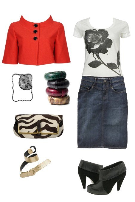 3 Ways to Wear a Little Red Jacket: Formal, Casual and In Between 2