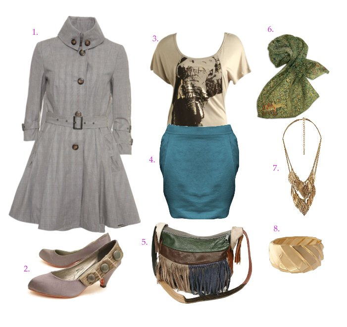 Blue, Green and Grey Meet in an Urban Outfit   mix match fashion trends