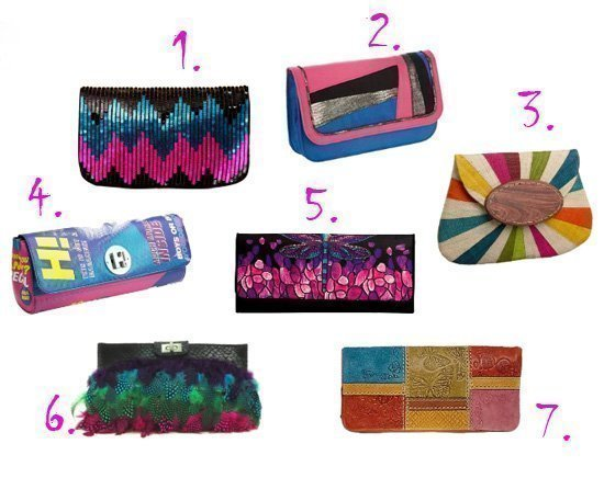 Shopping Time: Multi Colored Clutches Under $50!   fashion trends