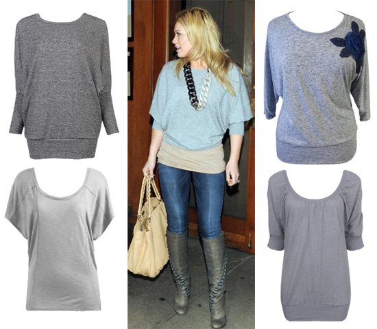 Hilary Duff's Gray Top for Less than $30 – 4 Options for You