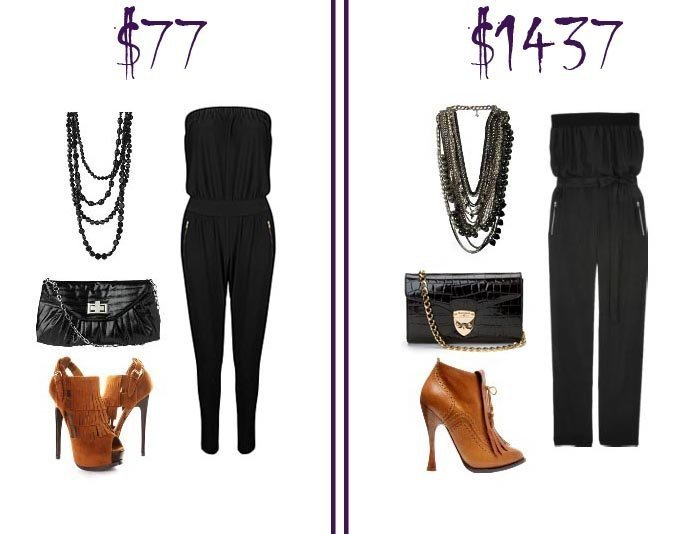 Black Jumpsuit Look   Low Budget VS Mega Budget   fashion trends