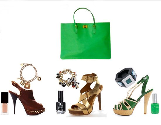 You Would Match this Grass Green Bag with...   trendy games