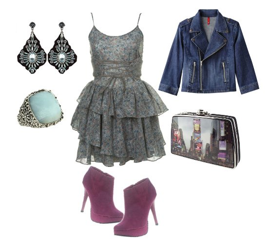 Lace and Denim, Flirty and Edgy in One Look  1