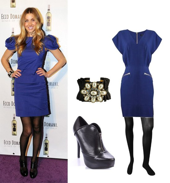 Get Her Style: Whitney Ports Blue Look for Less Than $110!   celebrity trends