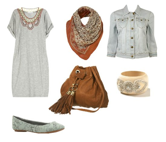 Daily Look   Casual Mix of Gray and Brown   fashion trends