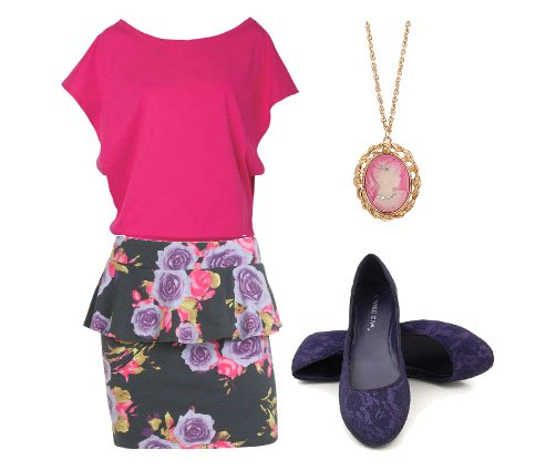 Daily Outfit Under $50: Romantic Pink, Lace & Florals   fashion trends