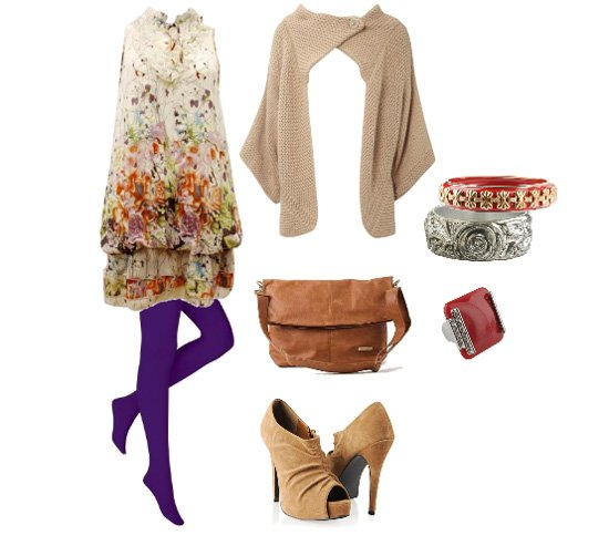 Daily Look: Floral Dress & Warm Cardigan Outfit   fashion trends