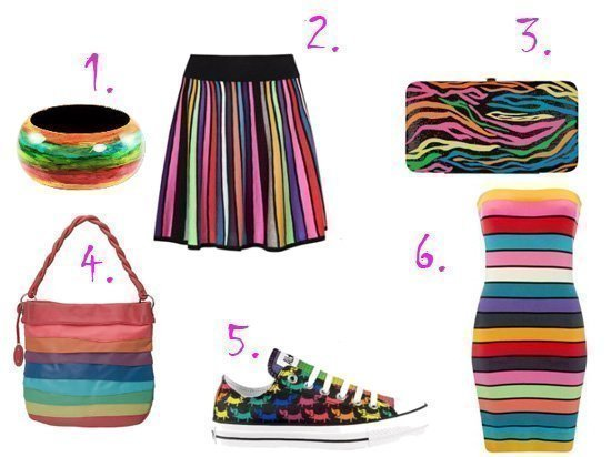 Rainbow Inspiration   Time to Color!    fashion trends