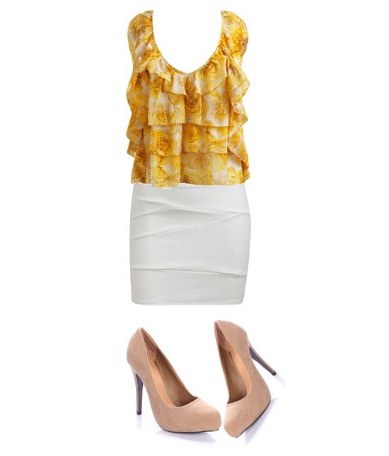 Daily Look   Dressy Ruffle Outfit for $100   fashion trends
