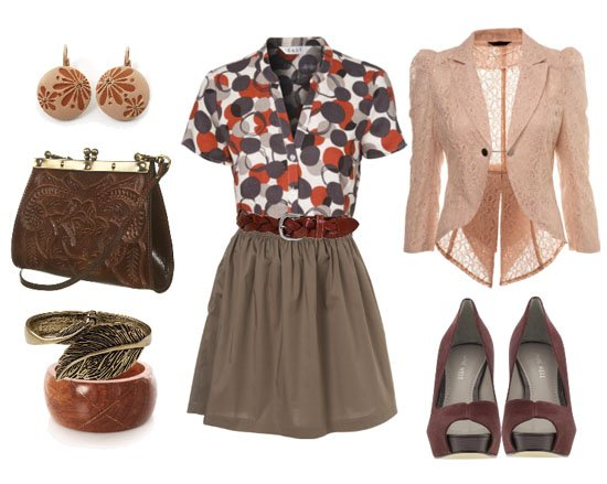Go Granny Chic Bubbles, Browns and Lace!