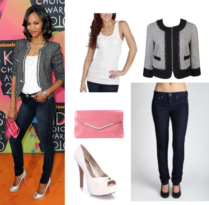 Get Her Style: Zoe Saldanas Outfit for $92!   celebrity trends