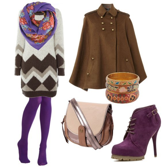 Daily Outfit: Cozy Purple Winter   7 Piece Outfit for $180   fashion trends daily outfits