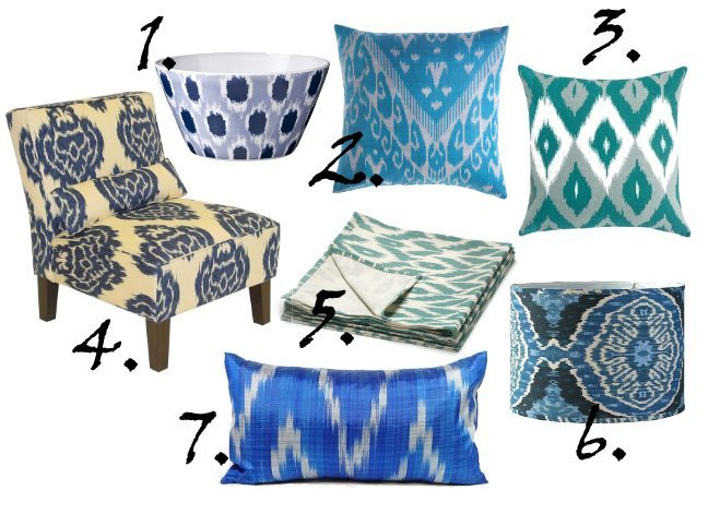 Decor Trends: Blue Ikat