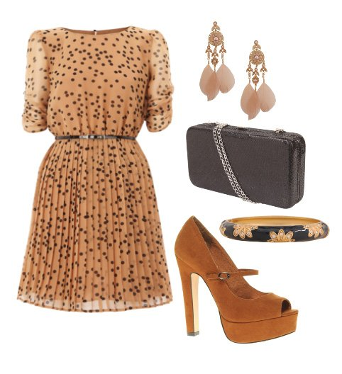 Daily Chic: Spotted Caramel Outfit for $100 1