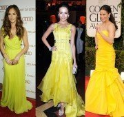celebrity trend yellow dresses