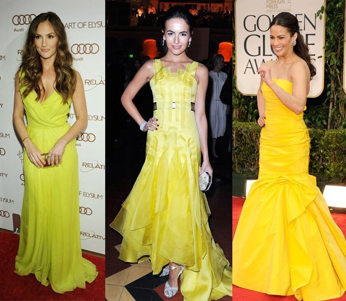 Celebrity Trends: Yellow Evening Dresses   celebrity trends