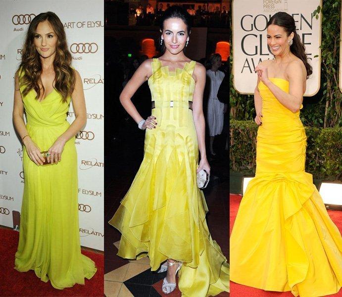 Celebrity Trends: Yellow Evening Dresses