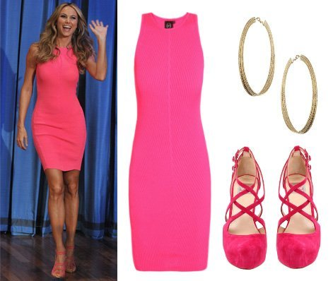 Steal Her Style: Stacy Keiblers Head to Toe Hot Pink Outfit   celebrity trends