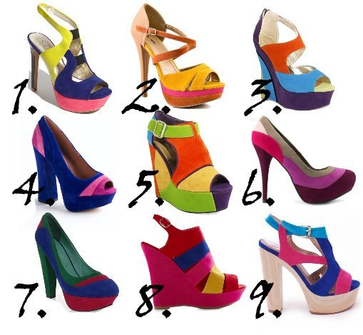 Trend Alert: Color Block Rainbow Shoes Under $50    trend alert shopping time on a budget fashion trends