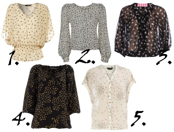 Trend Alert: Bird Print Blouses Under $50   trend alert shopping time on a budget fashion trends