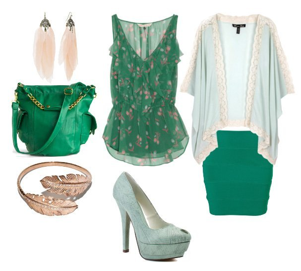 Themed Outfit: Minty Forest   mix match fashion trends