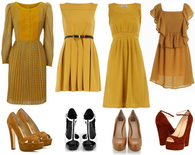 Shopping on a Budget: Retro Mustard Dresses Under $50   shopping time on a budget fashion trends