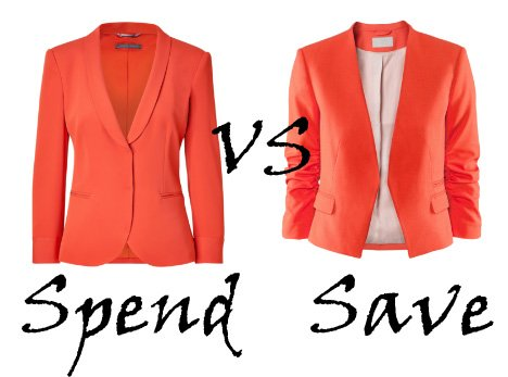 Spend VS Save: Orange Blazers   spend vs save fashion trends