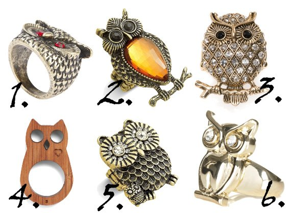 Funky Fashion Rings Cheap From owl prints on funky