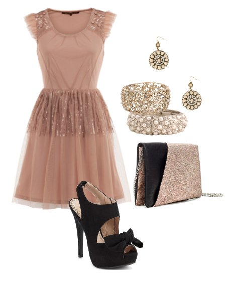 Sparkly Chic: Dusty Pink Party Look for Less Than $100!   shopping time on a budget fashion trends