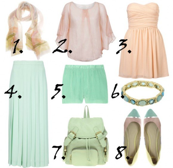pastels for spring 2012 trends