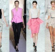 peplum for spring 2012