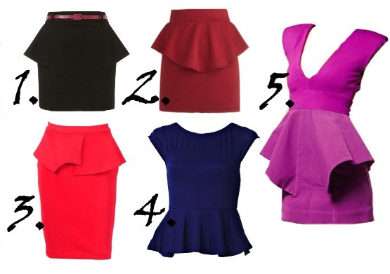 Spring 2012 Runway Trends: Peplum Tops, Skirts and Dresses   runway trends