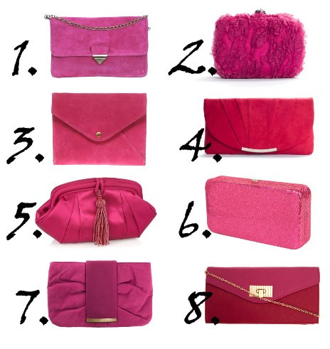 Shopping Time: Hot Pink Clutches Under $50    shopping time on a budget