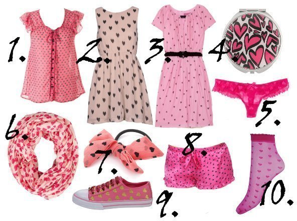 10 Pink Heart Print Picks for Valentines Day   From $3 to $92!   shopping time on a budget fashion trends
