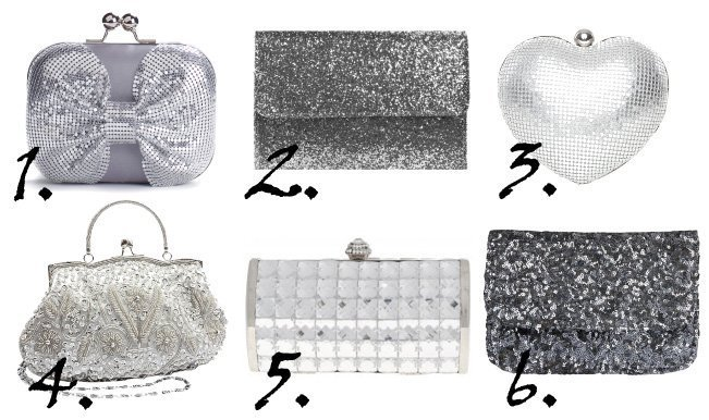 Shopping Time: Sparkly Silver Clutches Under $35 1