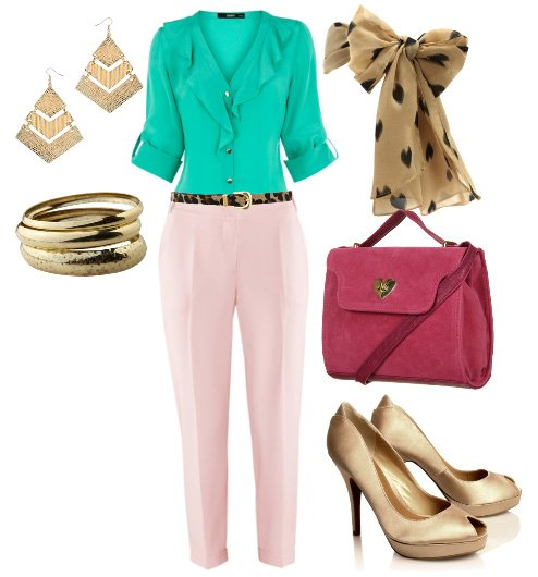 Themed Outfit: Turquoise Blush and Golden Touches 1