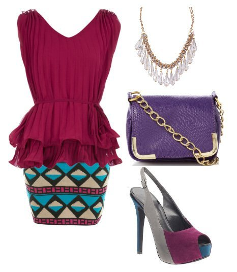Themed Outfit Under $100: Tribal Berry    fashion trends daily outfits