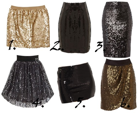 Party Time Shopping: Sparkly Sequin Skirts Under $50! 1