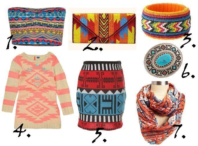 Trend Alert: Aztec Prints and Colors   7 Picks From $8 to $68   trend alert shopping time on a budget fashion trends