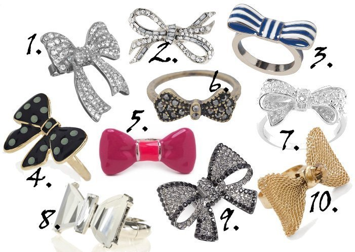 Dainty Blings: Bow Rings Under $25!   shopping time on a budget fashion trends