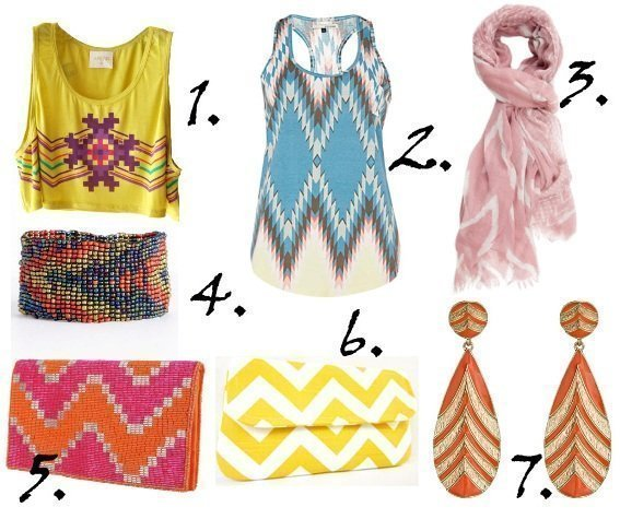 Zig Zag It Up! Colorful Chevron Picks From $10 to $43   shopping time on a budget fashion trends