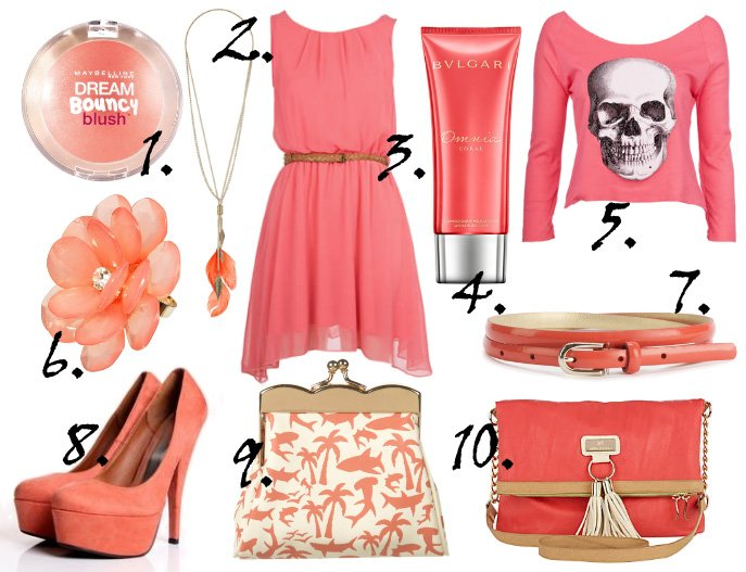 Color of the Week: Coral   10 Finds Under $50!   shopping time on a budget fashion trends color collections
