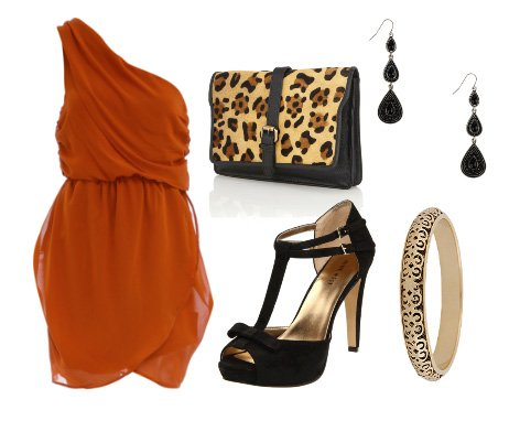 Polished Rust and Leopard Touch: Evening Look for $100   fashion trends daily outfits