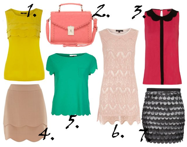 Trend Alert: Scallop Edges   7 Feminine Picks Under $75   trend alert shopping time on a budget fashion trends