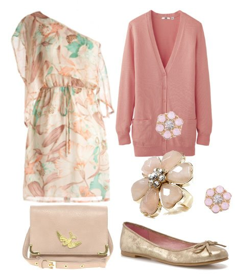 Pretty Pastels and Floral Grace - 6 Piece Look for $189 1