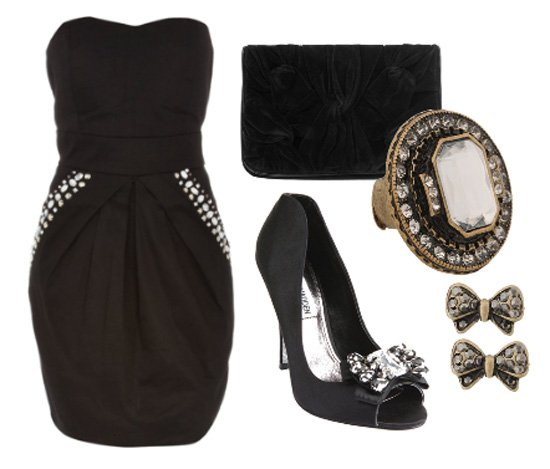Friday Night Out: All-Black 5-Piece Outfit for $70 1