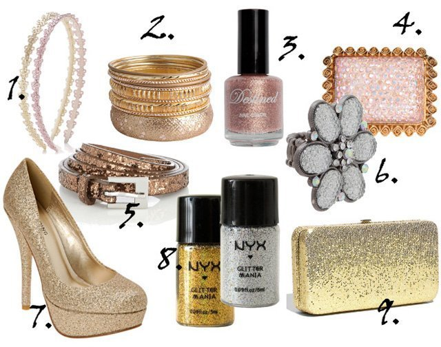 Cheap Finds: 9 Silver, Gold and Pink Glitter Picks Under $10   shopping time on a budget fashion trends beauty trends