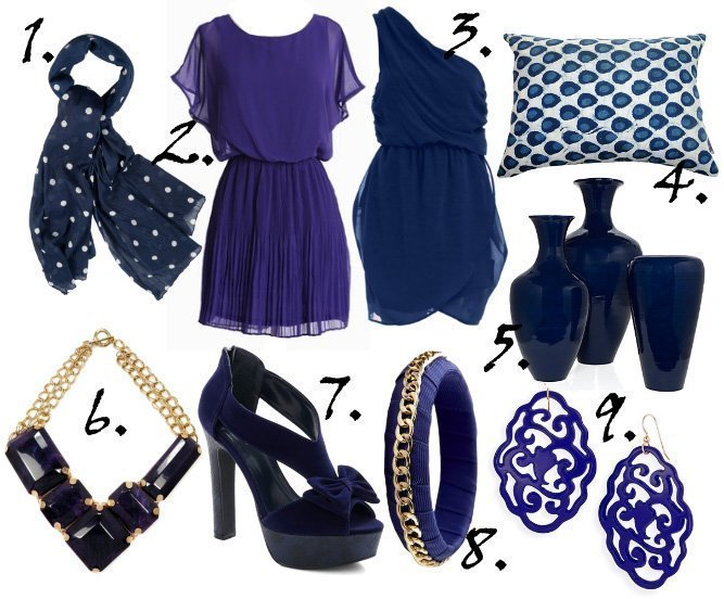 Color of the Week: Indigo! 9 Great Finds Under $50   fashion trends decor trends color collections