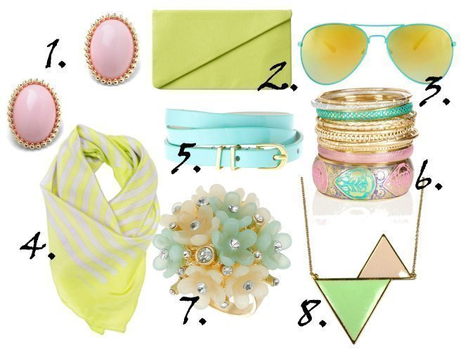 Just in Time for Spring: Pastel Accessories Under $30   trend alert shopping time on a budget fashion trends