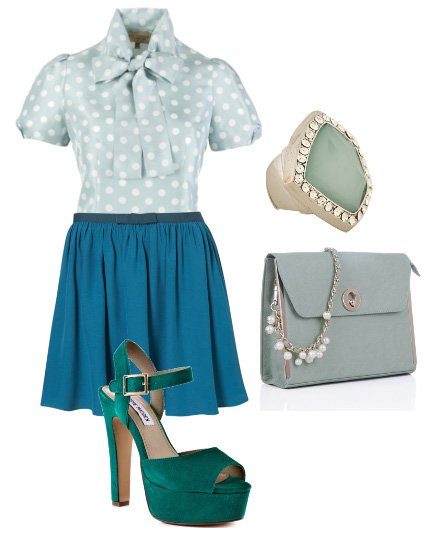 Daily Outfit: LadyLike Elegance in Minty Blues   fashion trends daily outfits